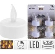LED tea light tealight with timer battery (included) a pack 4 pcs