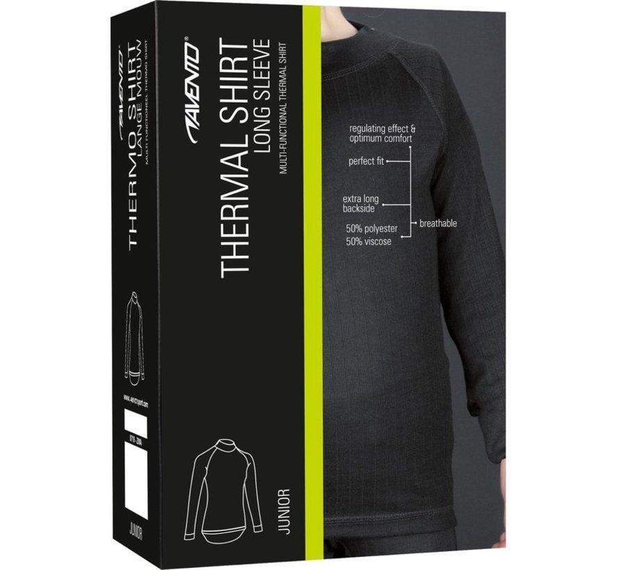 Avento Thermo Long Sleeve Shirt - Kids - 116 - Black