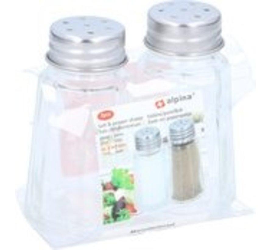 Alpina Glas Salz und Pfeffer Set - Küchenutensilien