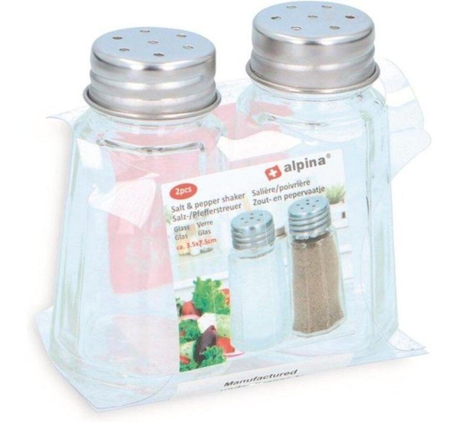 Alpina glass salt and pepper set - kitchen items