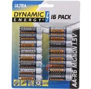 Dynamic Energy R6 Ultra - Batterij - AA - set van 16 stuks