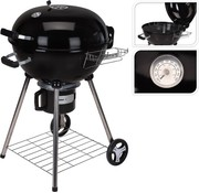 BBQ BBQ Around With Black Steel Wheels 86 X 57 X 99 Cm