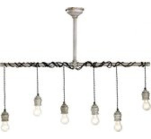 LUMINEO Eisen Pendelleuchte - Industrielle Lampe - Pendelleuchten Essen - Industrie -108cm breit - Grau
