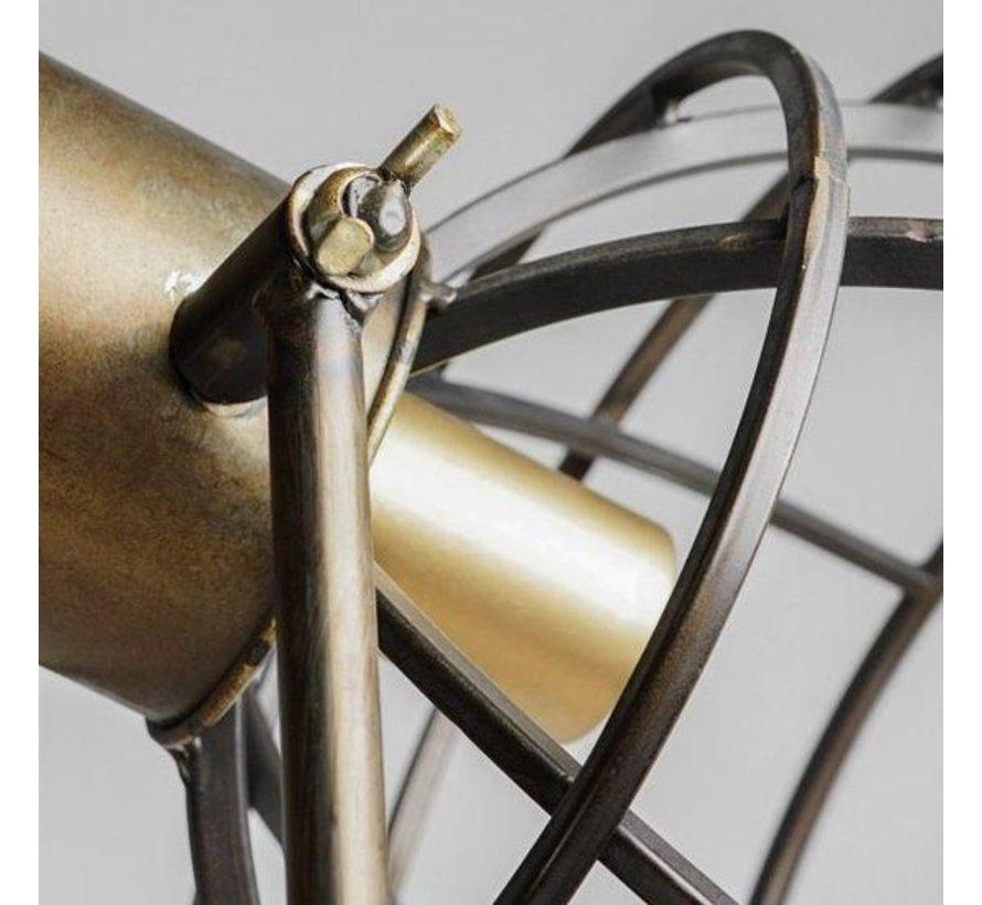 Industriële vloerlamp – staal – Brons/koper – 125 cm