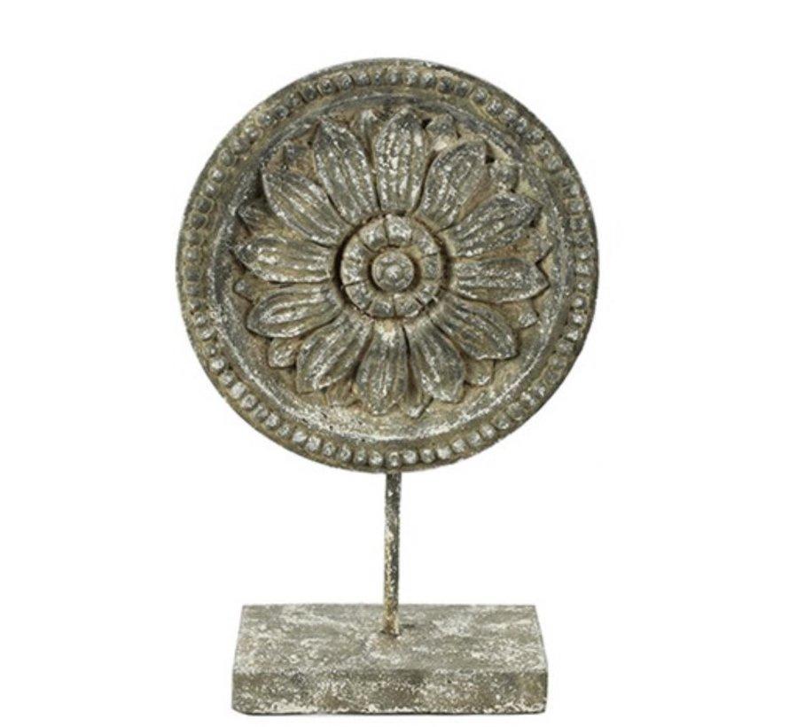 Ornament Incus L - Grijs