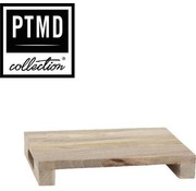 PTMD® Snijplank / Dienblad / Decoratief Plateau van mangohout 25 x 35 cm | type Loni dikte 6 cm