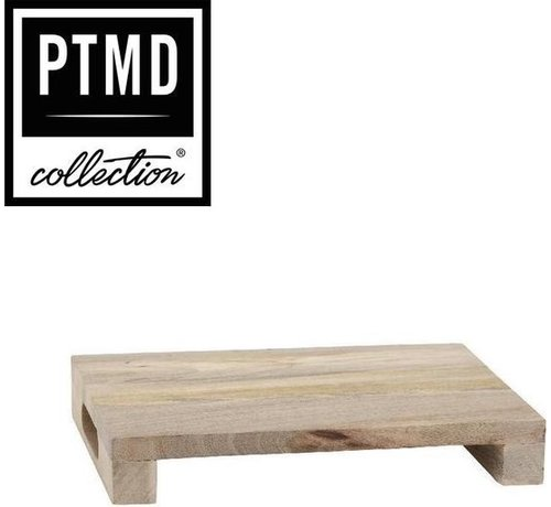 PTMD® Snijplank / Dienblad / Decoratief Plateau van mangohout 25 x 35 cm   type Loni dikte 6 cm