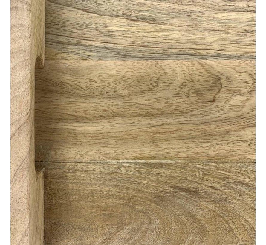 PTMD® Snijplank / Dienblad / Decoratief Plateau van mangohout 25 x 45 cm | type Loni dikte 6 cm