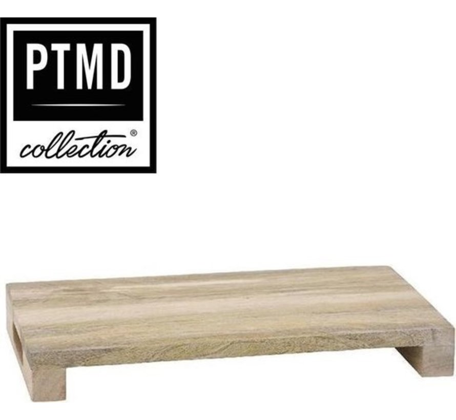 PTMD® Cutting Board / Tray / Decorative Plateau of Mango timber 25 x 45 cm | type Loni thickness 6 cm
