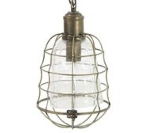 Hanglamp Mias - Industrieel - Bronskleur - Metaal en Glas - 135cm