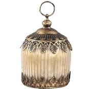 PTMD Lantern Carys brown 8x11x8 cm