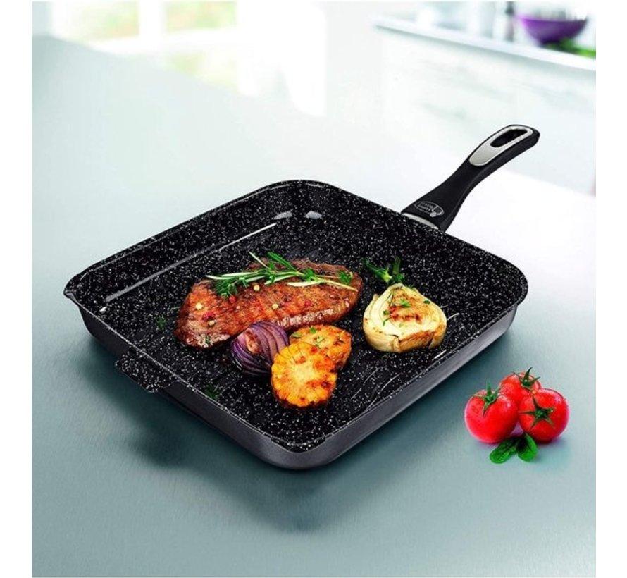 Mama Rossi Grill- en steakpan Ø28cm - Keramische Coating - Inductie geschikt
