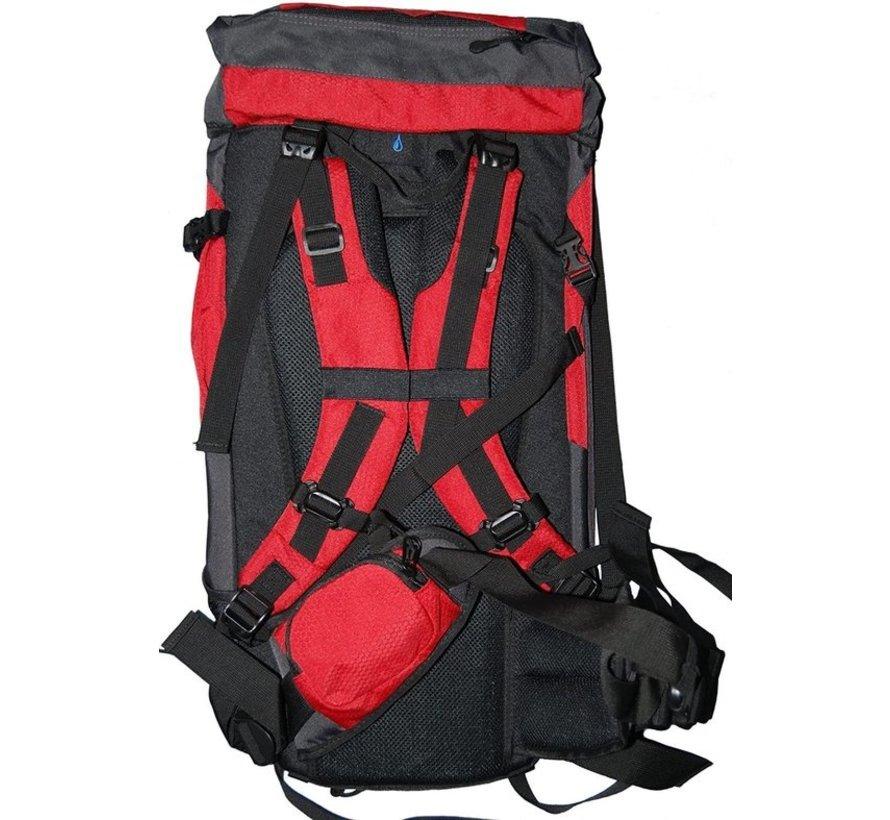 Hallo-Tec Rucksack 50 Liter - bequem im Freien Rucksack mit regen Abdeckung