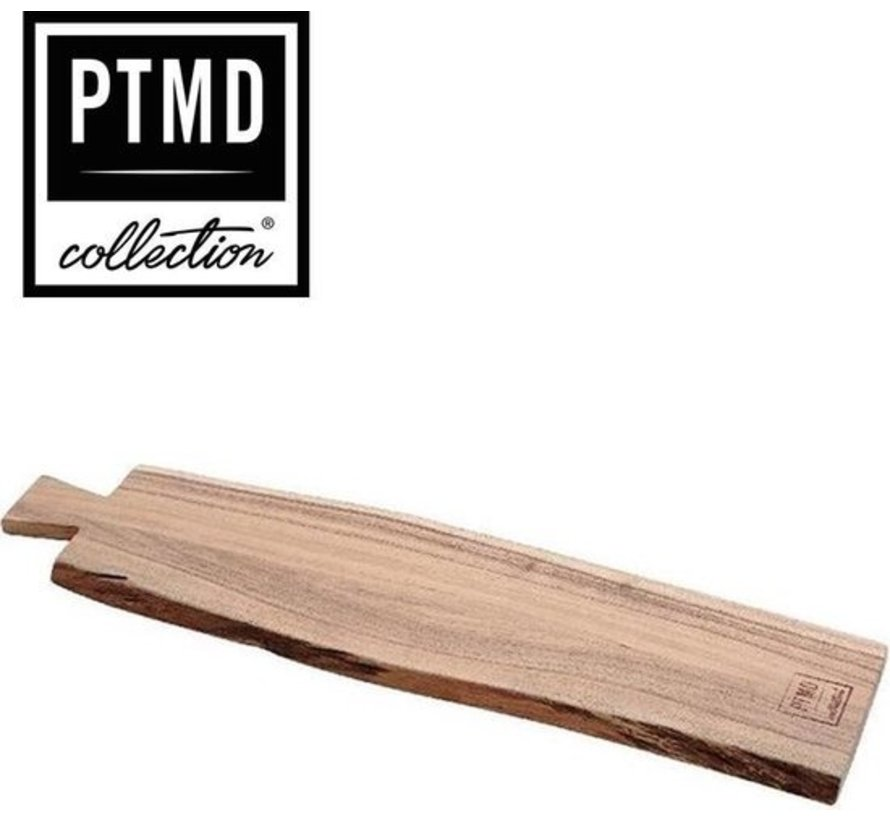 PTMD® Snijplank / Dienblad / Decoratief Plateau van mangohout 65 x 15 cm | type Myko dikte 16 mm