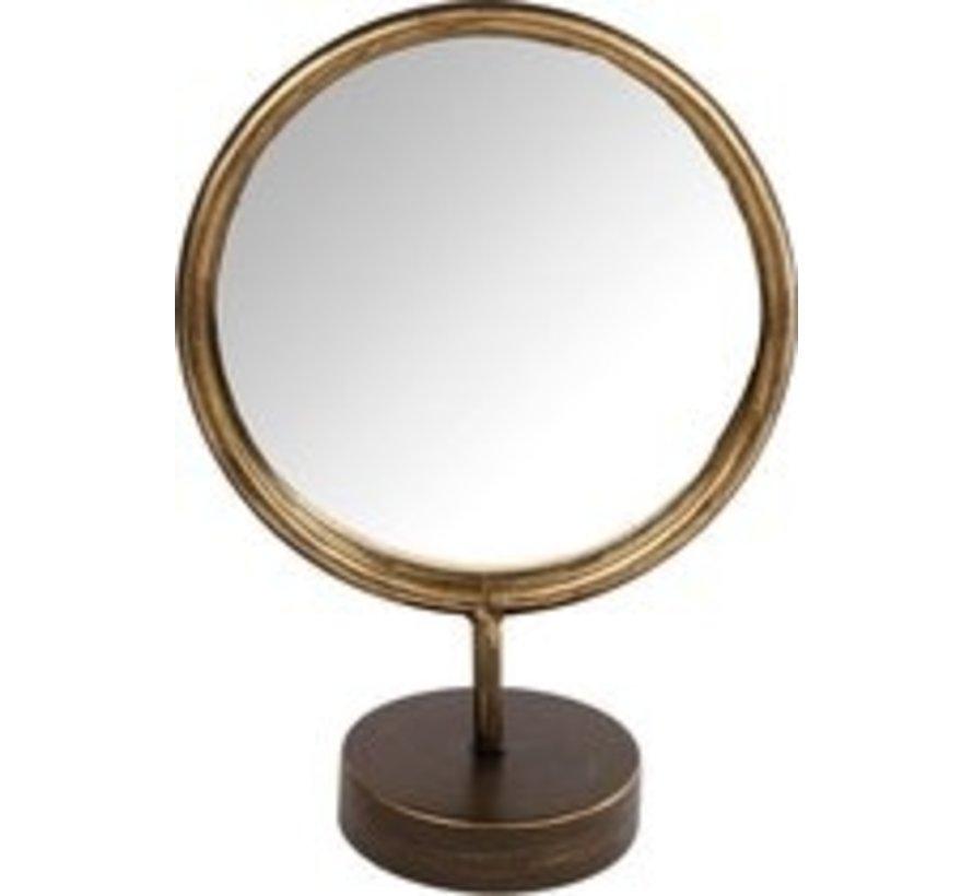 Monde um Spiegel 20x10x27 cm gold
