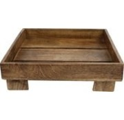Moons Square Tray 30x30x9 Cm Natural Wood