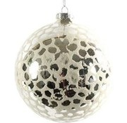 Decostar Decostar Christmas Clara 12 Cm Glass Silver / White