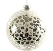 Decostar Decostar Weihnachten Clara 12 cm Glas Silber / Weiß