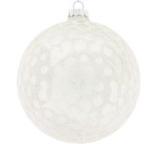 Decostar Christmas Clara 10 Cm White Glass