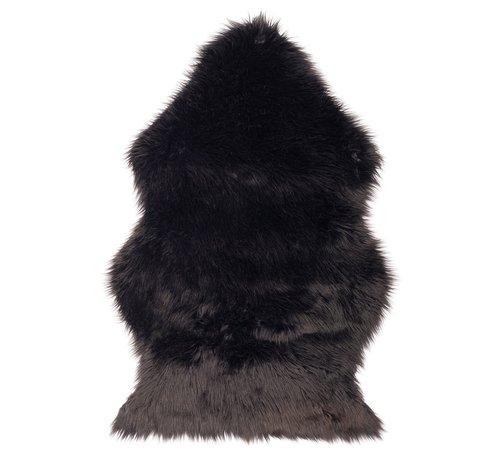Kunstvacht / schapenvacht 90 x 60 cm | kleur Zwart