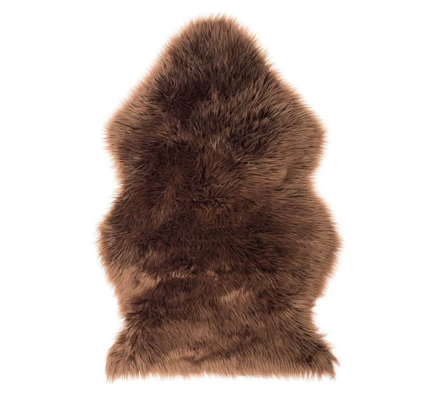 Kunstvacht / schapenvacht 90 x 60 cm   kleur Bruin