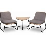 Mondial Living Loungeset Enzo voor 2 personen | inclusief bijpassende tafel