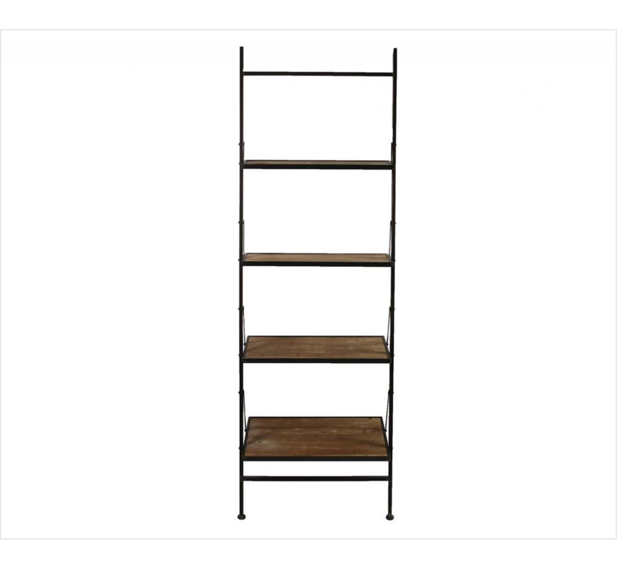 Decostar Mano Shelf with 4 wooden planks and metal frame   Height 197 cm