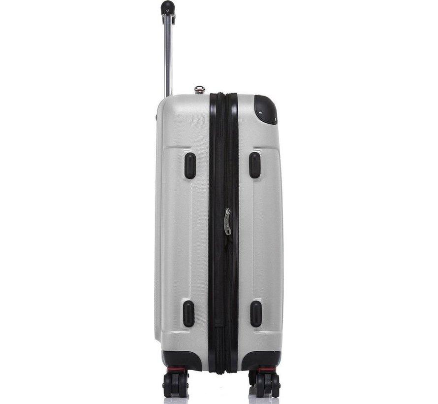 SHAIK® Koffer Butterfly Grijs Large 75 liter   afmetingen 67 x 47 x 27 cm