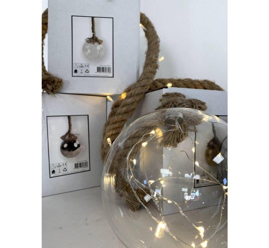 Christmas Lights / Weihnachts LED Ø12 cm · Rahel Glashelder · hängt an dekorativen Seil 95 cm