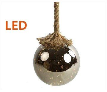 Decostar Kerstverlichting / Kerstbal met LED Ø15 cm · Rahel Zilver