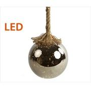 Decostar Kerstverlichting / Kerstbal met LED Ø12 cm · Rahel Zilver