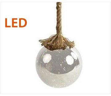 Decostar Kerstverlichting / Kerstbal met LED Ø12 cm · Rahel Glashelder