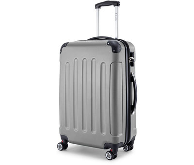 SHAIK® SHAIK® Koffer Butterfly Grijs XLarge 120 liter | afmetingen 77 x 52 x 32 cm