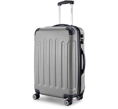 SHAIK® SHAIK® Koffer Butterfly Grijs Large 75 liter   afmetingen 67 x 47 x 27 cm