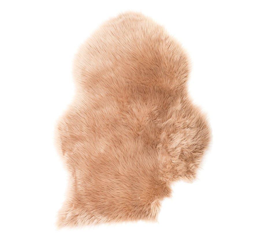 Kleine kunstvacht / schapenvacht 45 x 28 cm | kleur Creme
