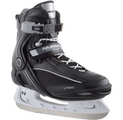 Nijdam Nijdam 3350 Ice Hockey Skates - Semi Soft Boot - Black / White - Size 41
