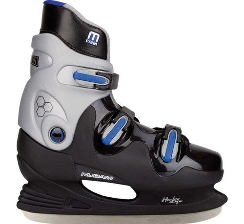 Nijdam Nijdam 0089 IJshockeyschaats - Hardboot - Zwart/Blauw - Maat 43