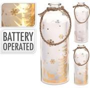 B-O Flasche Mit Led 31cm Gold