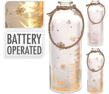 B-O Flasche Mit Led 31cm Gold