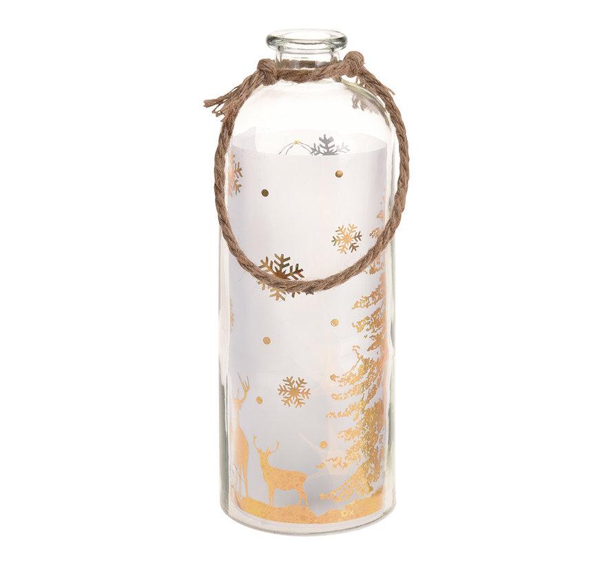 B-O Bottle With Led 31cm gold