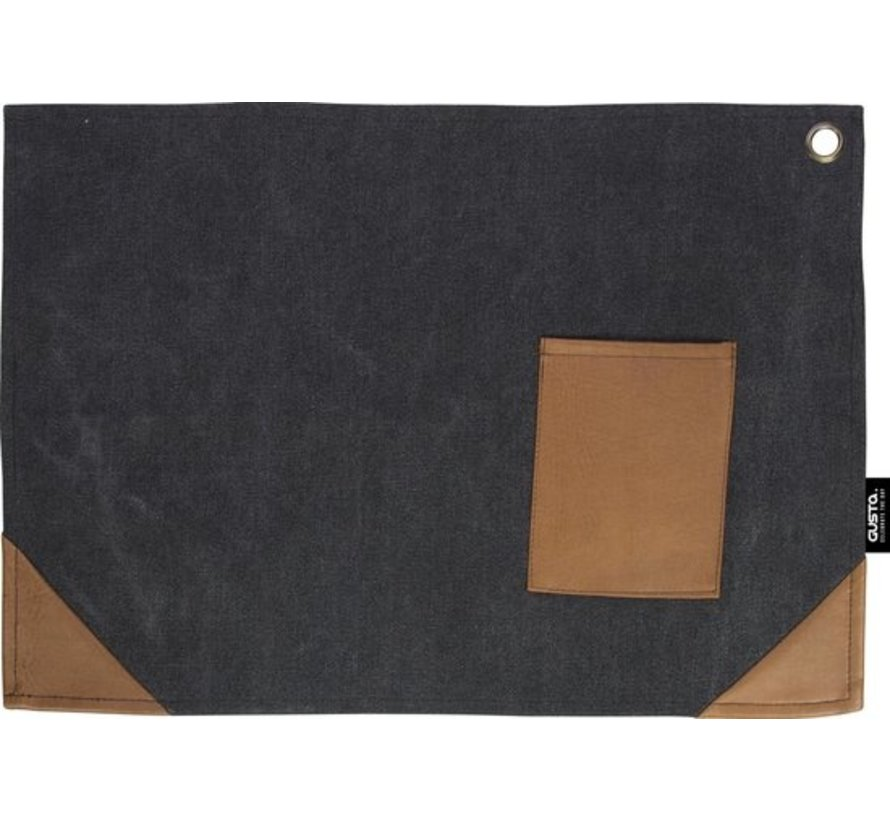 PLACEMAT CANVAS BLACK 2dlg 45X32CM