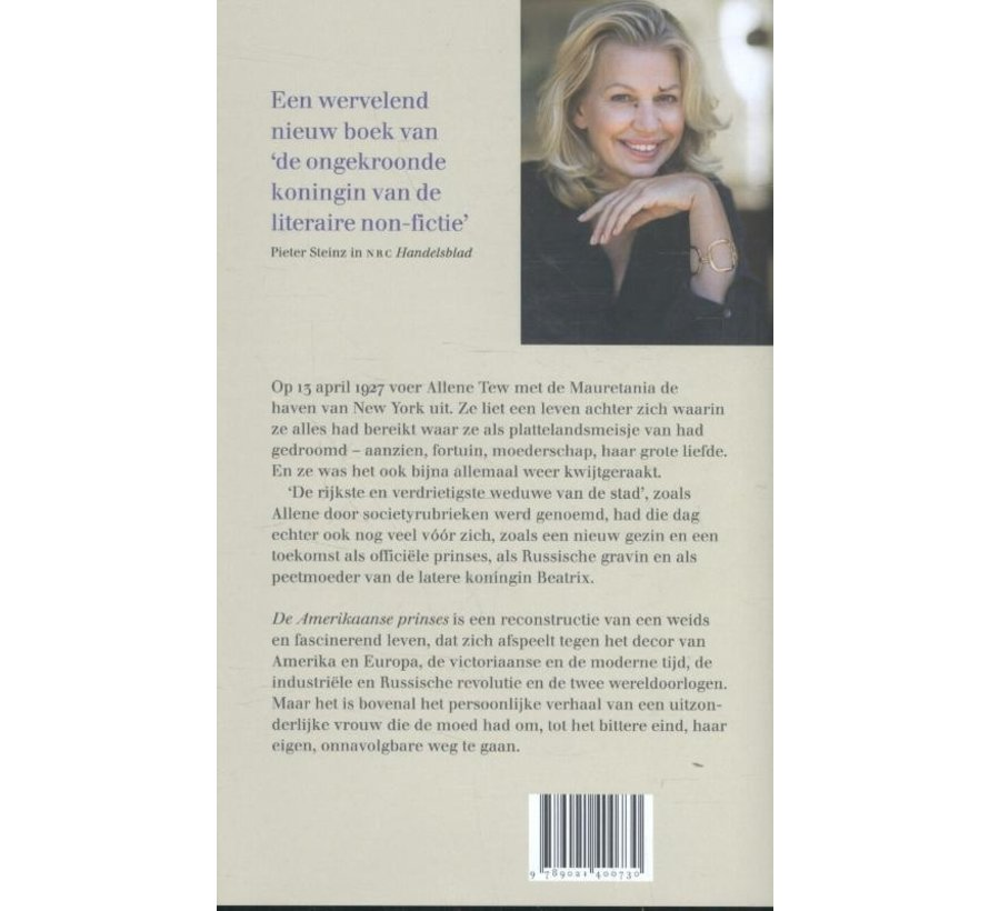 De Amerikaanse prinses van Annejet van der Zijl   Hardcover van 280 pagina's