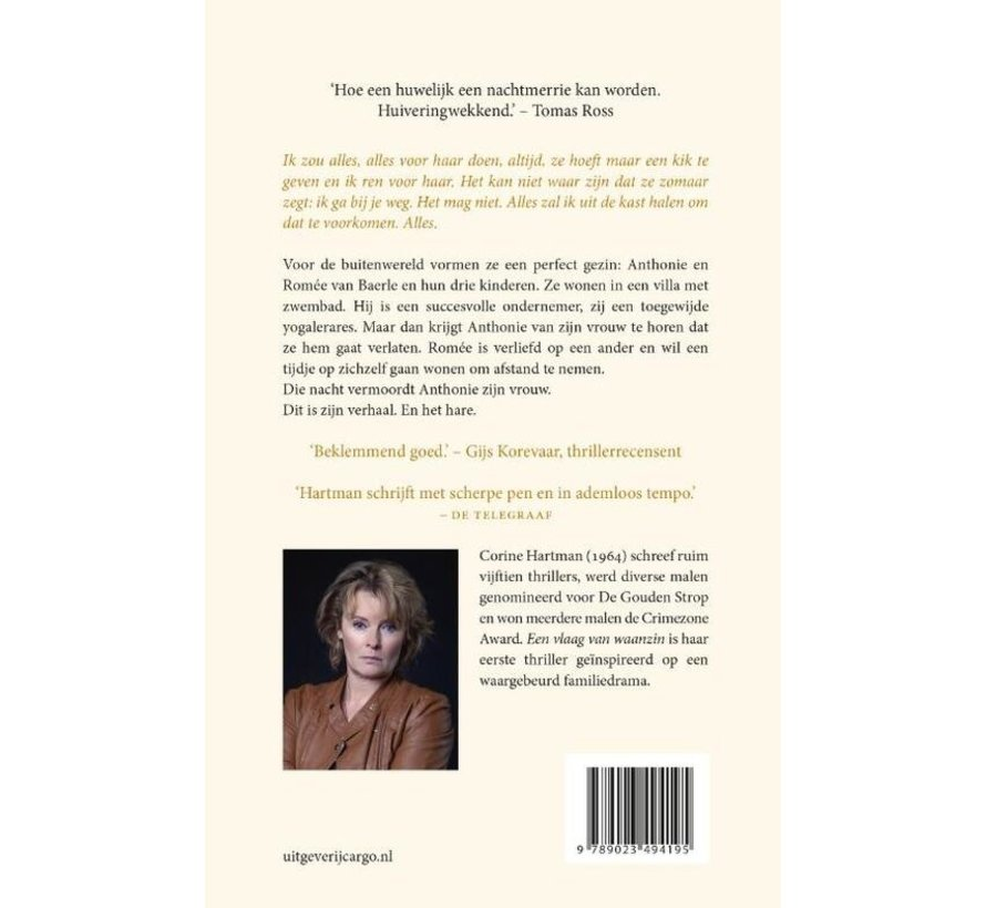 Een vlaag van waanzin van Corine Hartman   Paperback van 288 pagina's