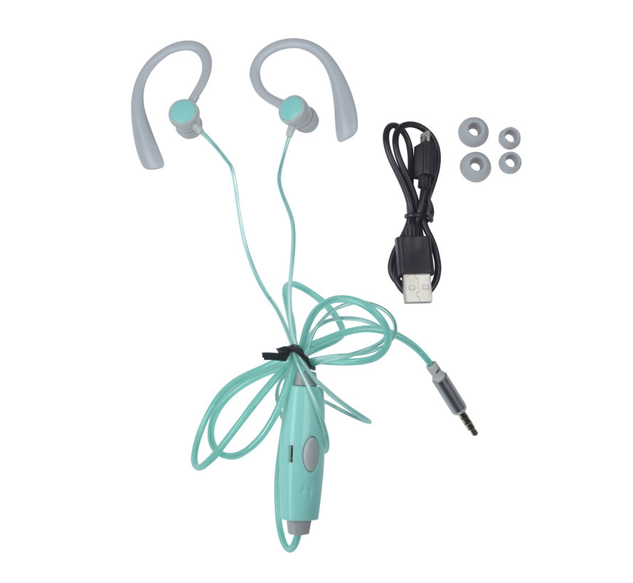 Kopfhörer mit LED-Licht grün