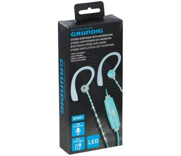 Earphone With Led Light green
