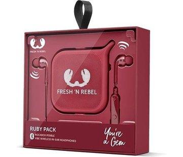 Fresh 'N Rebel Ruby-Pack-Mono Wireless Speaker Red