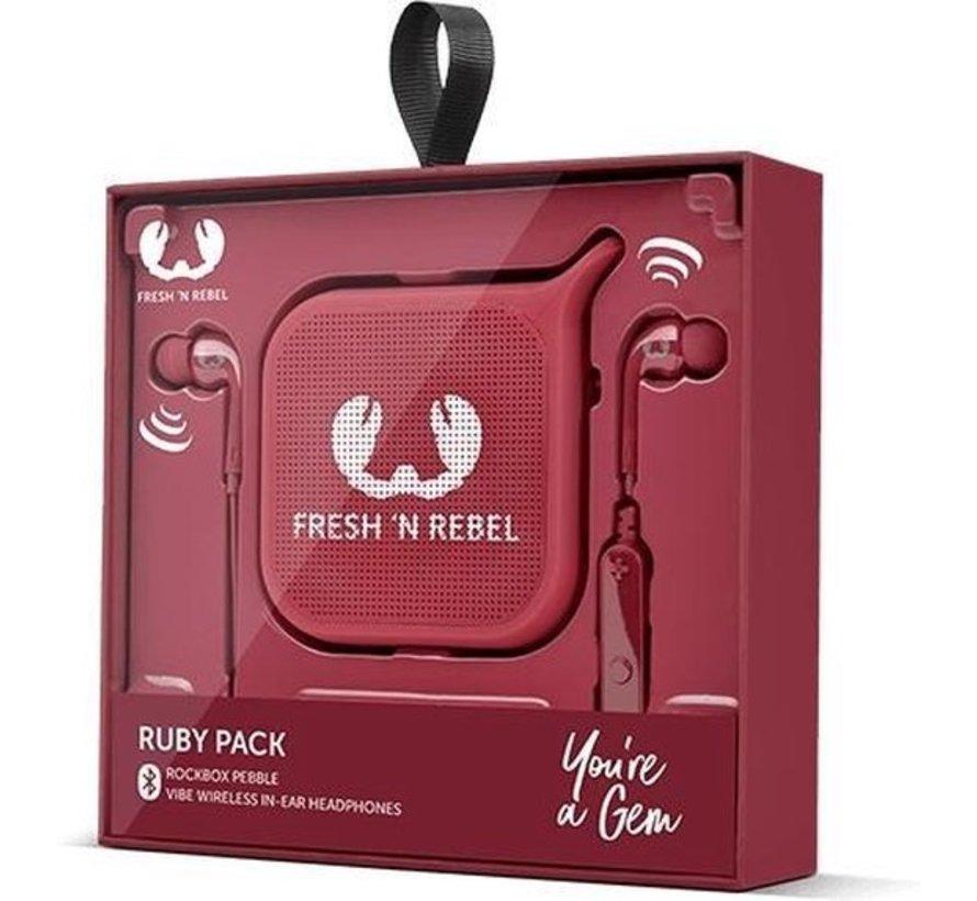 Fresh 'N Rebel Ruby Pack Mono Draadloze Luidspreker Rood