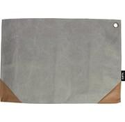 Placemat grijs 45x32 cm - 2 stuks