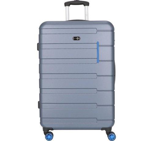 "SHAIK® Trolleykoffer Travel Pal ""Munich""   Blauw   Middel"