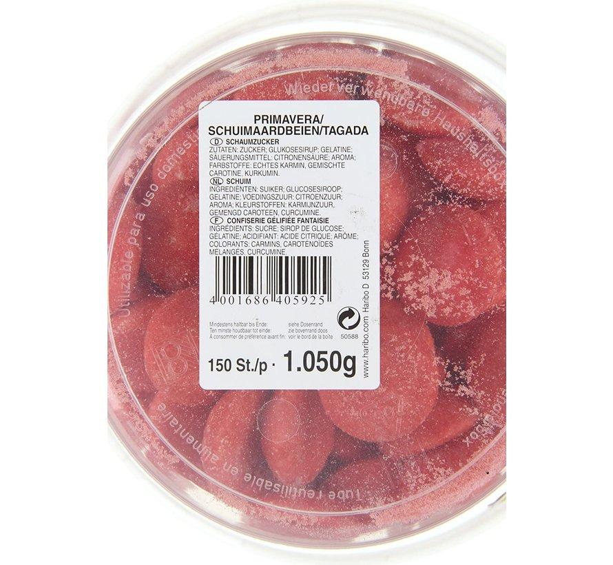 150 stuks HARIBO Schuim Aardbeien